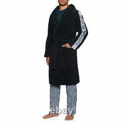 Emporio Armani Woven Bathrobe Mens Underwear Dressing Gown Marine All Sizes