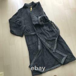 FENDI Bathrobe Black unisex Free Size Brand NEW F/S