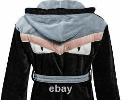 Fendi Bademantel Schwarz Monster Eyes bag Bugs French Terry Bathrobe Bath Rope l