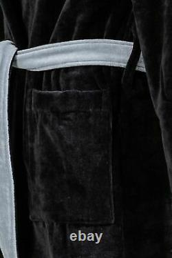 Fendi Robe Black Monster Eyes Bag Bugs French Terry Bathrobe Bath Rope L