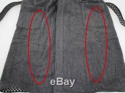 Fendi bathrobe 100% cotton gray notation size fits all 1126