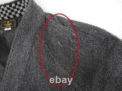 Fendi bathrobe 100% cotton gray notation size fits all 1265