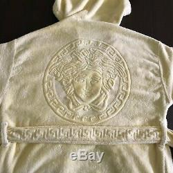 GIANNI VERSACE bathrobe pale yellow cotton, from ss 1996 Made in Italy