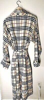 GREAT GIFT FOR DAD! Authentic BURBERRY NWT Iconic Plaid Bathrobe with Belt Sz L