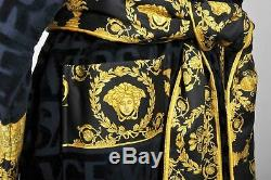 Genuine Original Versace Baroque Home Bath Robe Unisex Size XL Black Rrp £355
