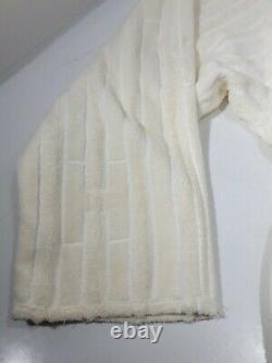 HERMES Long Lounge Robe Kimono belt Bath Robe Fashion Cotton Made In Belgium