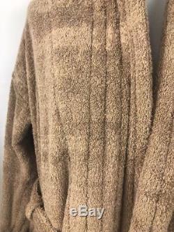 HERMES Paris Gown Robe Bathrobe Pile Cotton Silk Unisex Small