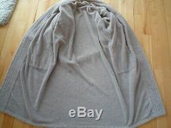 HERMES men's robe, bathrobe, color etoupe, size L