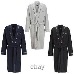 HUGO BOSS Men's Bathrobe Kimono, Logo, Cotton, Colour Selection, S-2XL