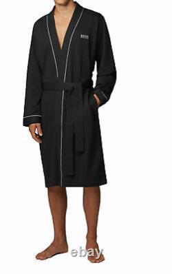 HUGO BOSS Men's Bathrobe Kimono with Logo and Tags Genuine Product BLACK Size M