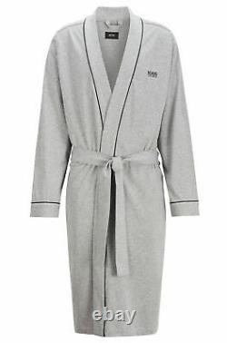 HUGO BOSS Men's Bathrobe Kimono with Logo and Tags Genuine Product GREY Size L
