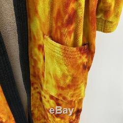 Harley Davidson 100% Cotton Embroidered Bathrobe One Size Tie Die Rainbow
