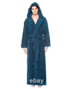 Hooded Bathrobe Mens Luxury Thick Turkish Cotton Terry Spa Robe With Hood