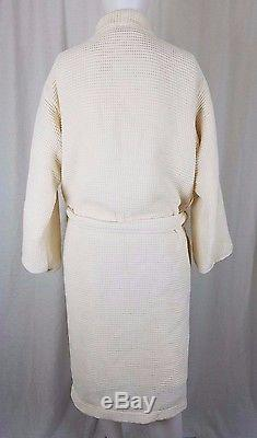Hotel Collection Woven Cotton Waffle Bath Robe Tie Sash Belted Mens Womens OS