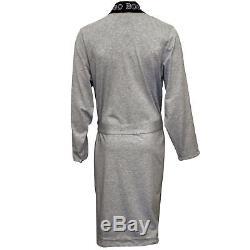 Hugo Boss Identity Kimono Jersey Cotton Men's Bathrobe, Grey/blue