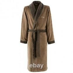 Hugo Boss Lord Havane Mens Bath Robe Medium Brown New With Tags