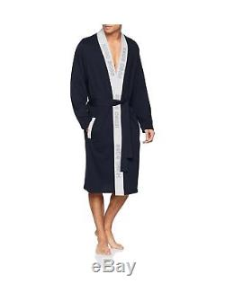 Hugo Boss Men's Identity Kimono Bathrobe Blue (Dark Blue 403) XX-Large
