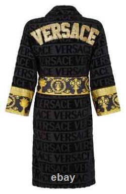 I Heart Baroque Bathrobe With Gold Embroidered Lettering Logo