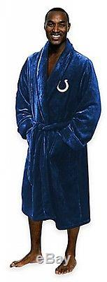Indianapolis Colts NFL Men's Silk Touch Bath Robe Bathrobe Large/X-Large Comfy