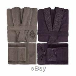Karaca Home Brick suits soft Bamboo Family Bathrobe suit