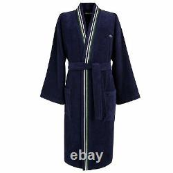 Lacoste L Club Men's Kimono Bathrobe, Marine