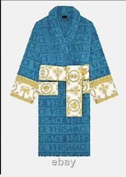 Light Blue Versace Bath Robe Size Medium
