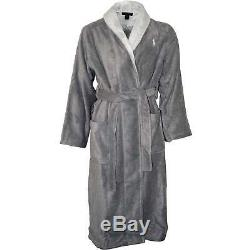 Lightweight Terry Jacquard Shawl Collar Men's Bathrobe, Andover Heather