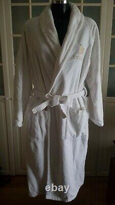 Luxury Rome Cavalieri Hotel 100% Egyptian Cotton Towel Bath Robe Dressing Gown