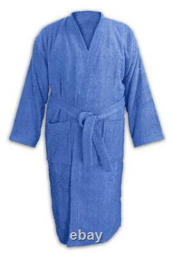 Luxury Shawl Collar Bathrobe 100% Egyptian Cotton High Absorbent Quick Dry