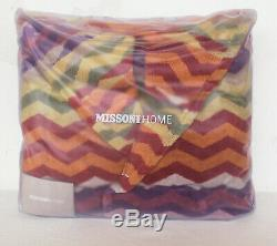 MISSONIHOME HOODED BATH ROBE PETE 156 MEDIUM branded pack 100% COTTON VELOUR