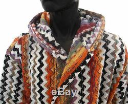 MISSONIHOME HOODED BATH ROBE VELOUR MASTER MODERNO COLLECTION PAUL 156 Sz SMALL