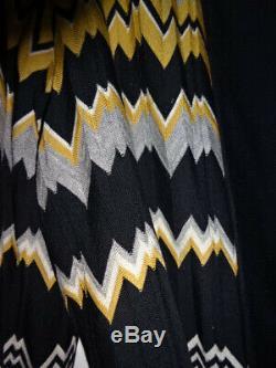 MISSONI FULL LENGTH COUTURE Cotton Bathrobe RARE CIRCA 1985 SHAWL COLLAR BELTED