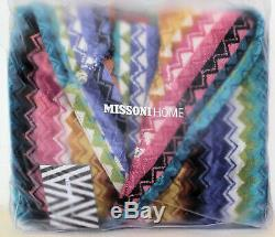 MISSONI HOME BATH ROBE HOODED RALPH 100 TRIMMED VELOUR COTTON Sizes M L