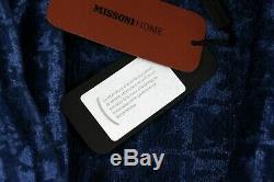 MISSONI HOME by T&J Vestor Men's Bathrobe Herren Bademantel Gr. XL blau SUPER