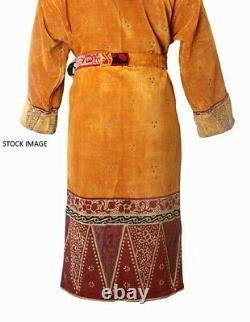 Makin & Lloyd Covent Garden Cotton Bathrobe Shawl Collar HONEY Size XL RRP £225