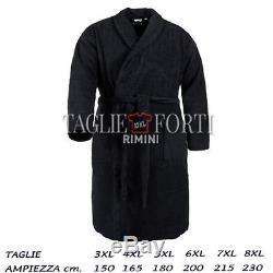 Maxfort Maxfort Plus Size Men chenille bathrobe Joker Black