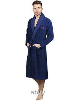 Men Towelling Robe 100% Cotton Terry Towel Bathrobe Dressing Gown Bath Perfect