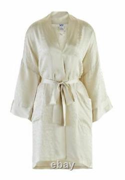 Men's 100% Silk Bath Robe Kimono Short 38 Inch