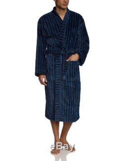 Men s Bathrobe -blue Blau dunkelblau Large brand Size052
