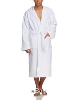 Men s Bathrobe -white Weiß weiss 142107-100