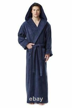 Men's Hood'n Full Ankle Length Hooded Turkish Cotton Bathrobe