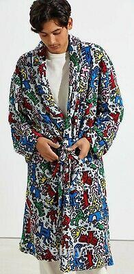 Men's Keith Haring Shawl Luxury Bath Robe Klein Polo Tommy Nautica Boss