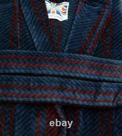 Men's Luxury Velour Bathrobe by Bown of London Arbroath (sizes available)