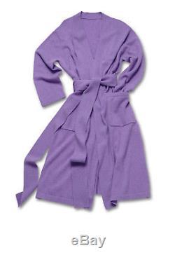 Mens 100% Cashmere bathrobe knee length grey