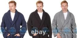 Mens 100% Cotton Terry Cloth Towelling Bath Spa Robe Dressing Gown Soft Warm UK
