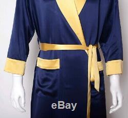 Mens 30 Momme 100% Pure Silk Night Robes Bathrobe Nightwear Night Dress Ailisilk