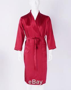 Mens 30 Momme 100% Pure Silk Night Robes Bathrobes Nightwear Sisters Silk