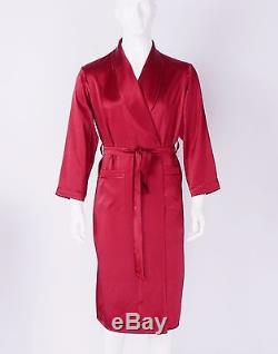 Mens 30 Momme Heavy Weight 100% Pure Silk Robes Sleepwear Bathrobe Sisters Silk