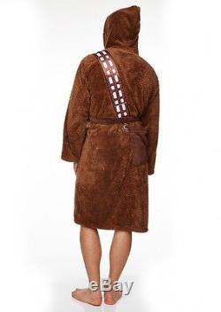 Mens Adult Man Star Wars Chewbacca Wookie Robe Dressing Gown Bath Night Chewbaca