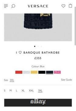 Mens Authentic Versace I LOVE BAROQUE BATHROBE XXL